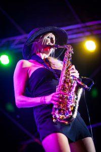 Saxophonistin Traditionelle Nacht Diez 2019