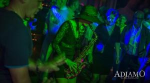Live Saxophonistin Anne La Sastra
