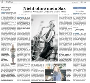 Saxophonistin Hamburg Presse