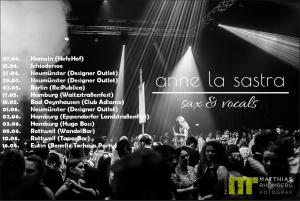 Anne La Sastra live Saxophon