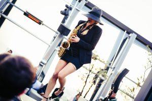 Saxophonistin Clouds Hamburg