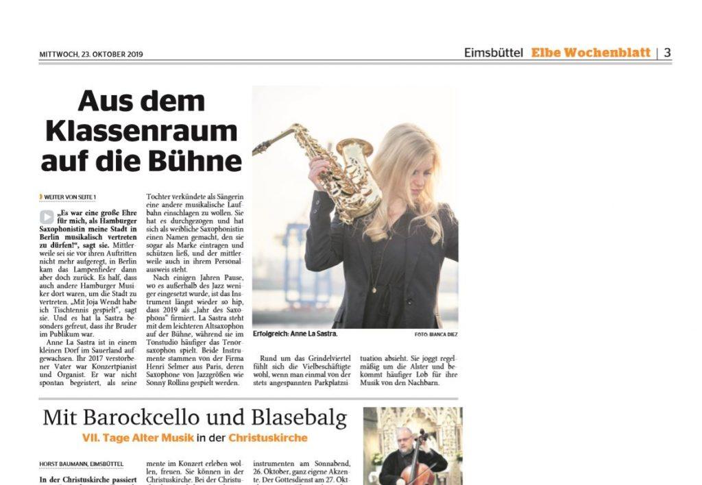 Anne La Sastra Saxophonistin