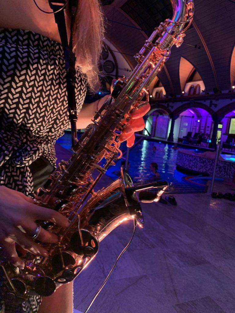 Bäderland Saxophonistin Anne